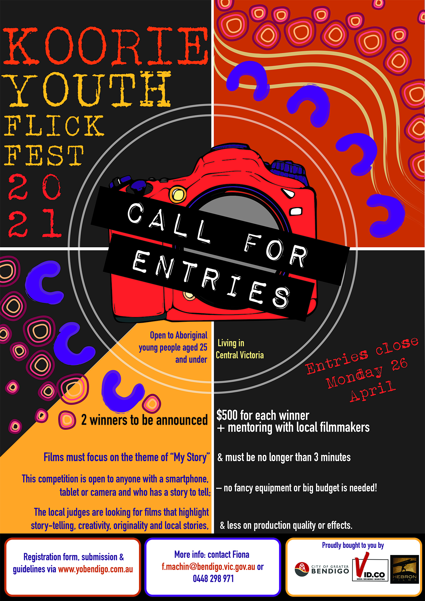 A poster for the Koorie Youth Flick Fest